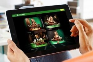 live casino tablet